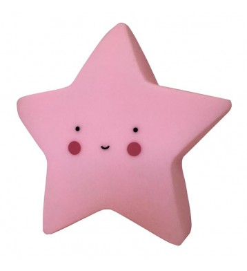 Quitamiedos luz infantil Estrella rosa