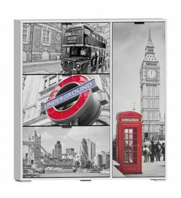 Zapatero 4 Puertas Londres 120x129x24