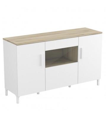 Mueble aparador blanco Elan 128x38x76
