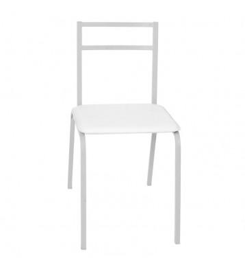 Pack 4 sillas cocina color blanco estructura acero