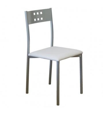 Pack 2 sillas Costa cocina blancas metal
