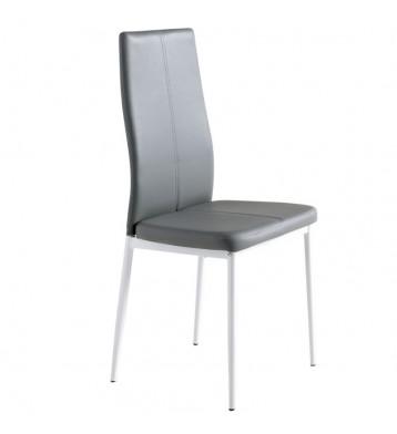 Pack 4 sillas Sora comedor polipiel gris