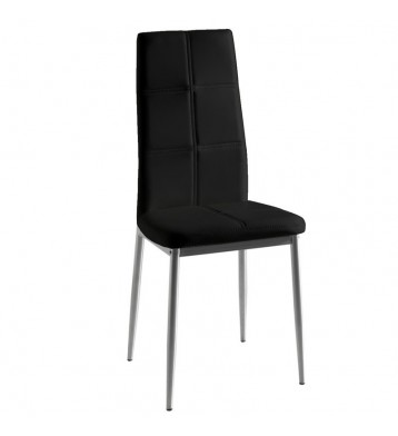 Pack 4 sillas Olost comedor negro gris
