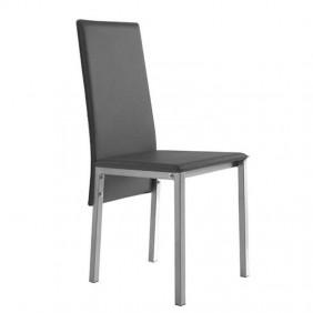 Silla moderna gris salón comedor 94x43x53