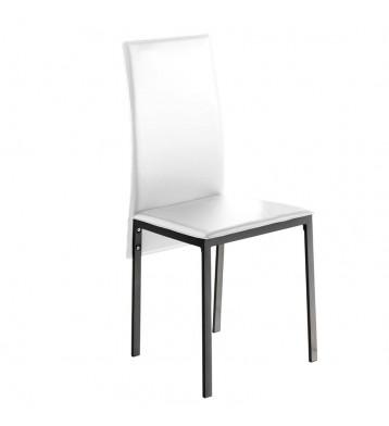 Pack 4 sillas comedor modernas blancas Saona