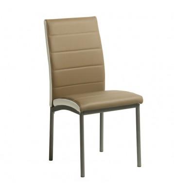 Pack 4 sillas salón Meli color camel