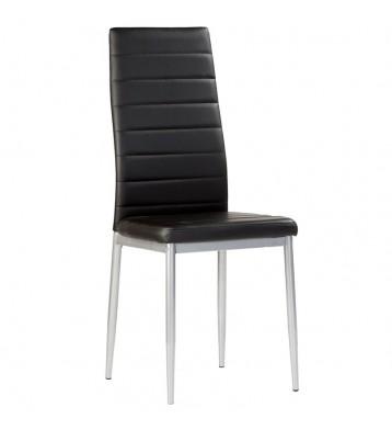 Pack 4 sillas negras polipiel Irina