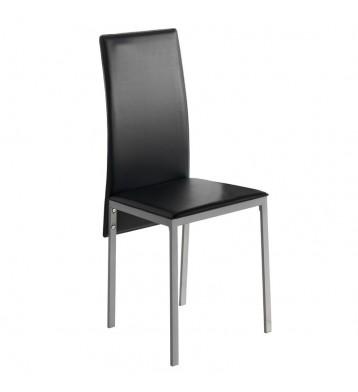 Pack 2 sillas modernas tapizadas polipiel Saona