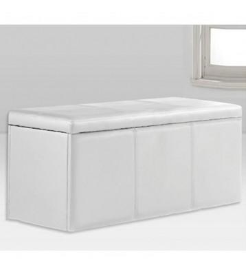 Baúl polipiel 90x40 blanco