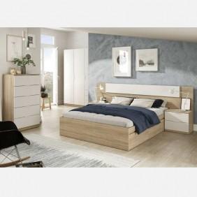 Muebles dormitorio matrimonio modernos Alba II 150x190