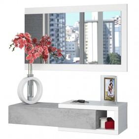 Recibidor estilo industrial con espejo