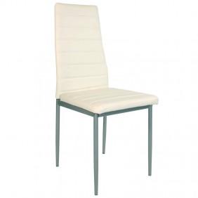 4 sillas blancas comedor polipiel