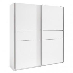 Armario blanco dos puertas correderas Cádiz 201x182x54 cm
