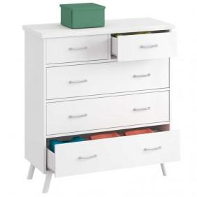 Comoda dormitorio Vale vintage blanco 90x45x99 cm