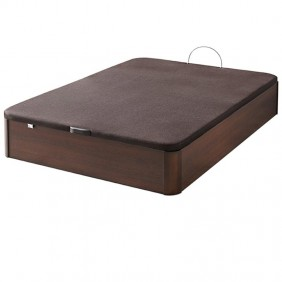 Canape con base tapizada 105X190, color wengue
