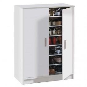 Armario zapatero Basic blanco 6 estantes 75x36x101 cm