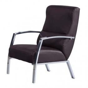 Butaca sillón chocolate y cromo