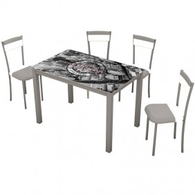 Pack mesa cocina y 4 sillas New York