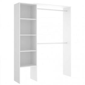 Armario vestidor abierto Suit blanco 140-110 cm