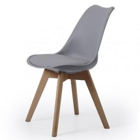 Pack 2 sillas comedor Bistro gris estilo nordico