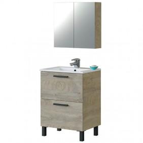 Mueble baño con espejo armario 60x45 cm LAVABO OPCIONAL
