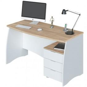 Mesa despacho Estil con buck blanco y roble 136x67x74