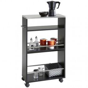 Carrito Coffe cocina color negro moderno 83x50x24 cm