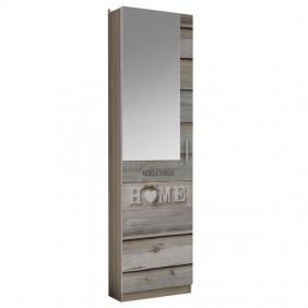 Zapatero alto 1 puerta con espejo entrada 180x50x20cm