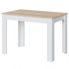 Mesa auxiliar fija Cloe roble y blanco cocina 78x109x67 cm