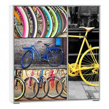 Zapatero Bicicleta 3 puertas 1 armario 129x120x24 cm