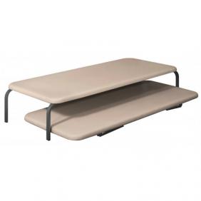 Cama canguro + 2 bases tapizadas 90x190