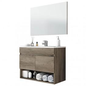 Mueble baño suspendido 80 cm con espejo LAVAMANOS OPCIONAL