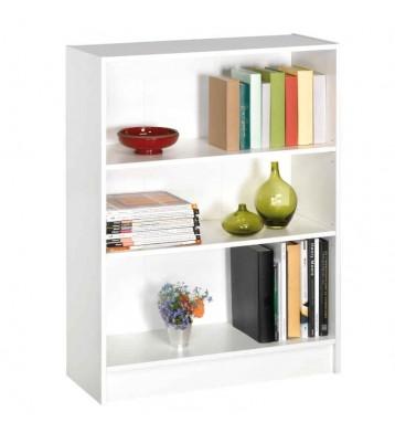 Estanteria o libreria color blanco perla con 3 estantes