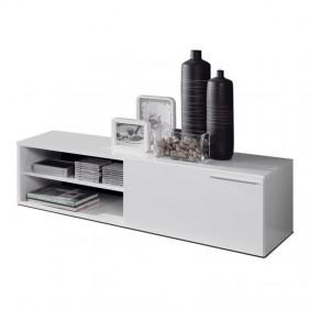 Mueble módulo bajo Dante salón Color blanco brillo 130x42x35
