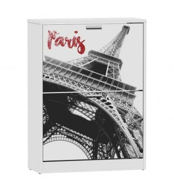 Zapatero 2 baldas blanco 82x60cm, París