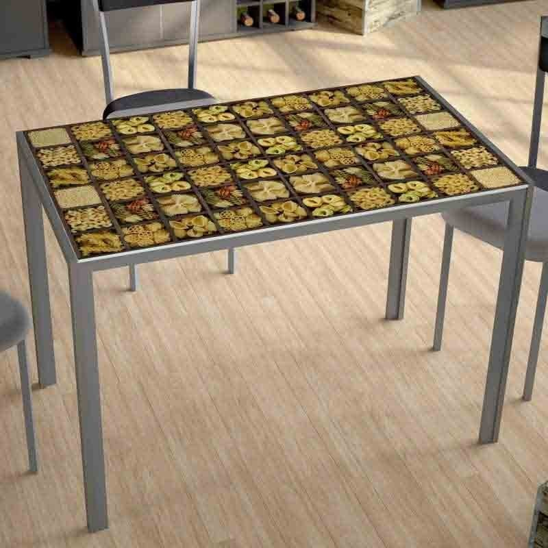 Mesa Cica Pasta 105x60. Cristal