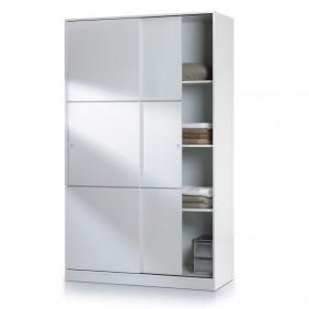 Armario puerta corredera blanco brillo habitación 120x200
