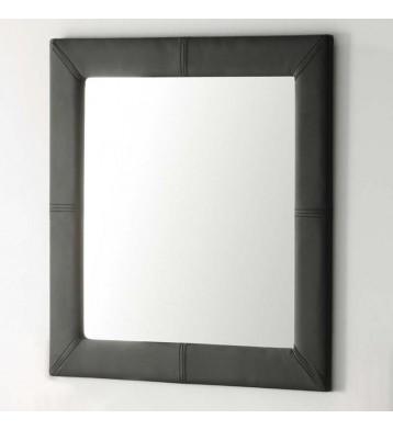 Espejo tapizado 70x70 negro