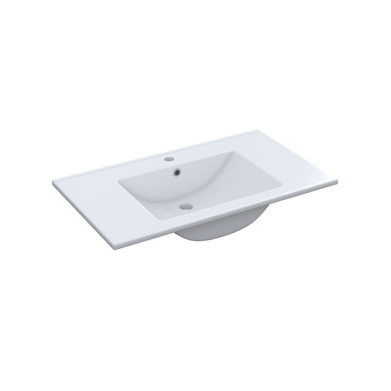 Mueble de baño con Lavabo + Armario Blanco Brillo