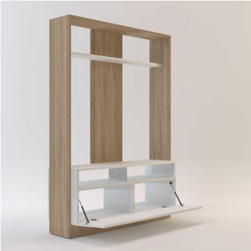 Mueble de salón - comedor Arkansas en color roble y blanco 160x113x37 cm