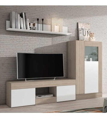 Pack salón comedor Argos mesa tv+vitrina baja+estante