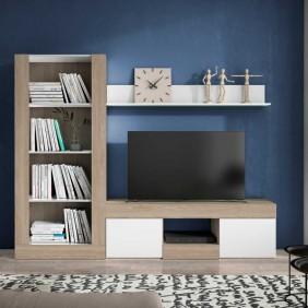 Pack para salon comedor Argos mesa tv biblioteca y estante