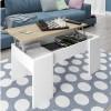 Pack para salón compuesto por mueble comedor mesa de centro y escritorio roble y blanco