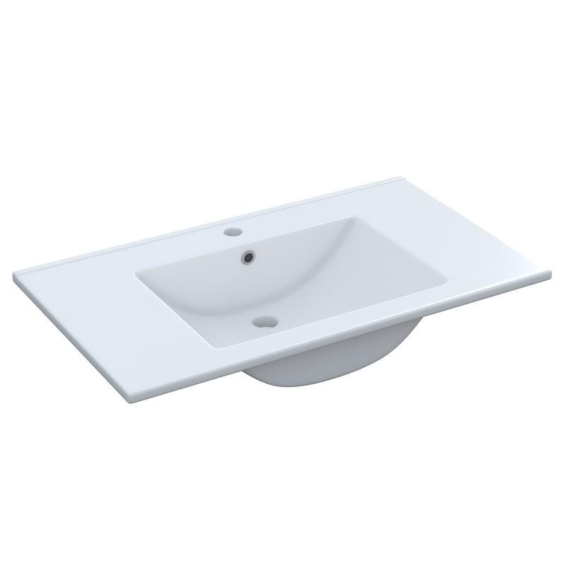 Pack mueble baño con espejo y columna gris ceniza
