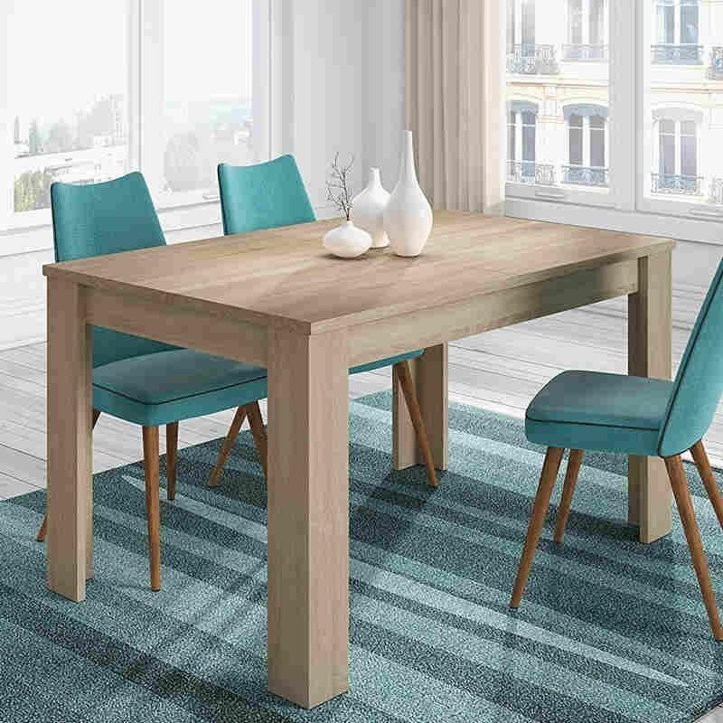 Pack salón mueble mesa centro y mesa comedor roble canadian