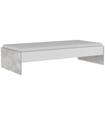 Cama Concrete estilo industrial 90x200 cm
