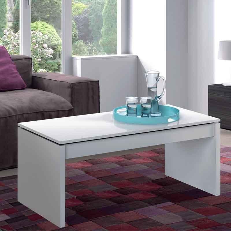 Pack salón Santorini mesa TV+estantería+mesa centro+aparador blanco