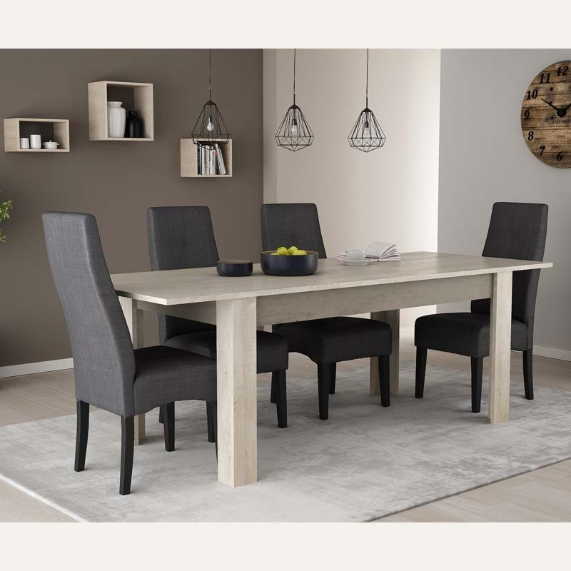Mesa extensible salon comedor Antibes color roble champagne