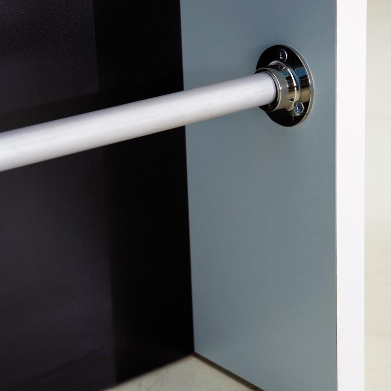 Mueble Bar Blanco y Negro con reposapies 110x48x113 cm