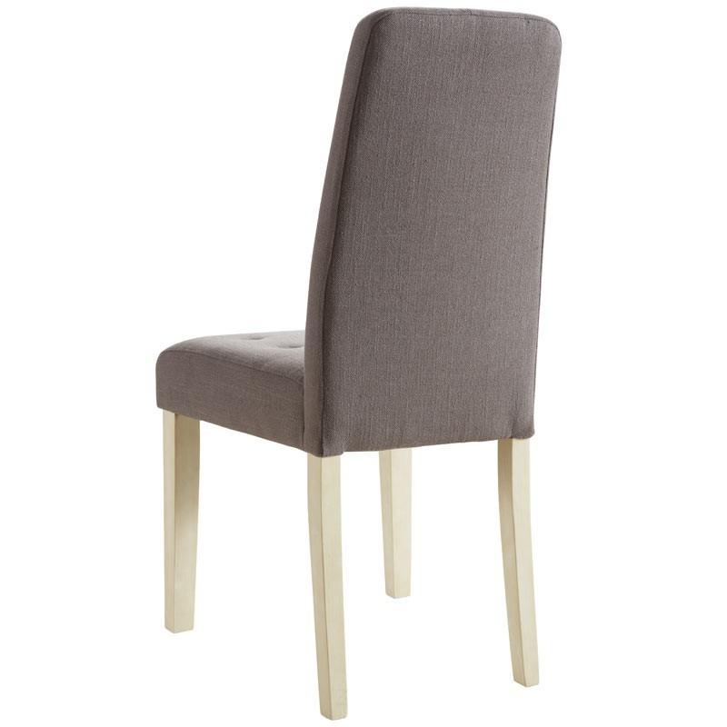 Pack 2 sillas acolchadas tapizadas en tela marron